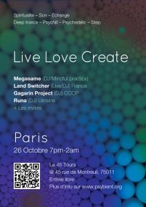 Live Love Create event Paris