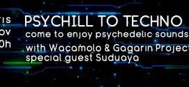 Psychill to Techno avec Suduaya, Gagarin et Wacamolo